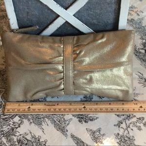 Gap Muted Gold Fabric Clutch
